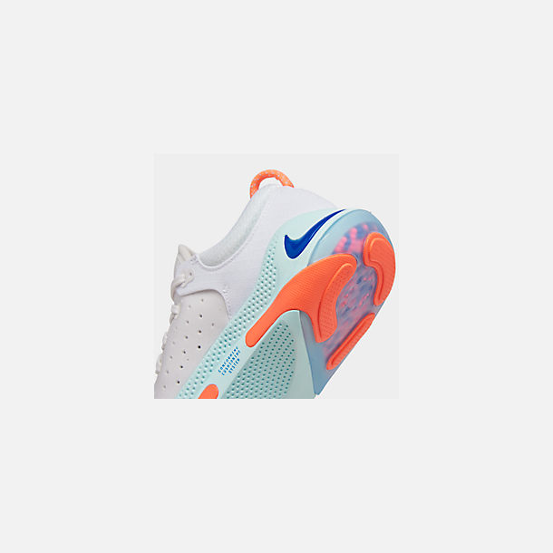 Front view of Women's Nike Joyride Run Flyknit Running Shoes in White/Racer Blue/Platinum Tint