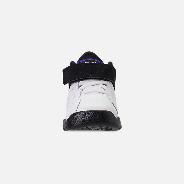 Front view of Boys' Toddler Jordan Jumpman Team II Basketball Shoes in White/Dark Concord/Black