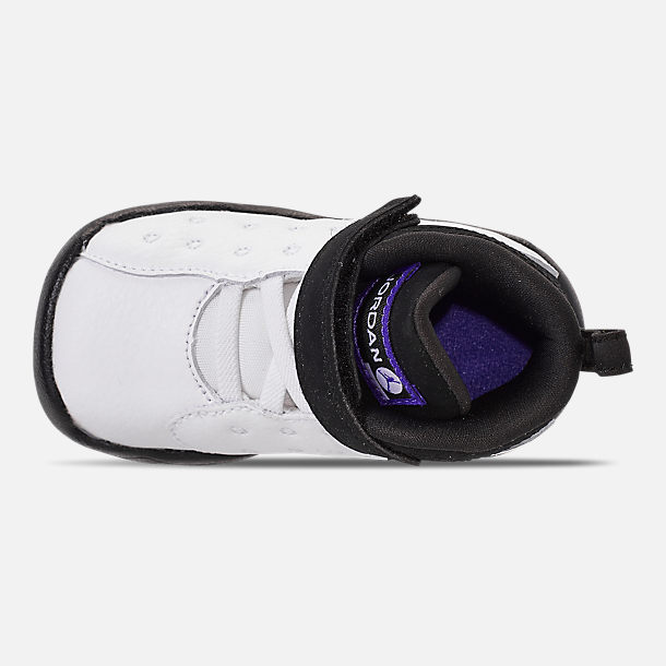 Top view of Boys' Toddler Jordan Jumpman Team II Basketball Shoes in White/Dark Concord/Black