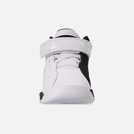 Front view of Boys' Toddler Jordan Jumpman Team II Basketball Shoes in White/Black/Infrared 23