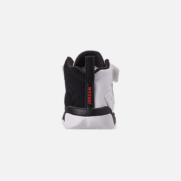 Back view of Boys' Toddler Jordan Jumpman Team II Basketball Shoes in White/Black/Infrared 23