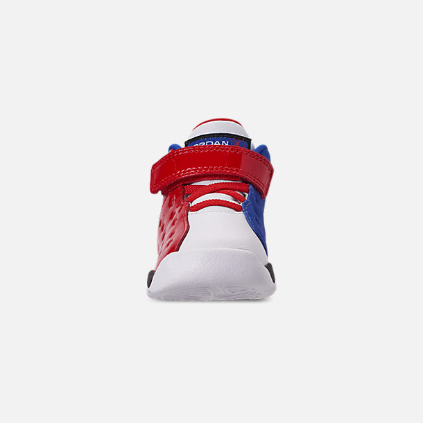 Front view of Boys' Toddler Jordan Jumpman Team II Basketball Shoes in University Red/Hyper Royal