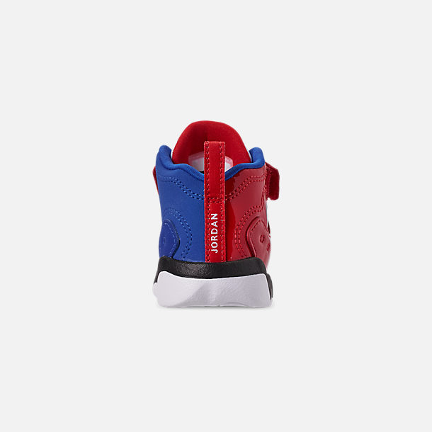 Back view of Boys' Toddler Jordan Jumpman Team II Basketball Shoes in University Red/Hyper Royal