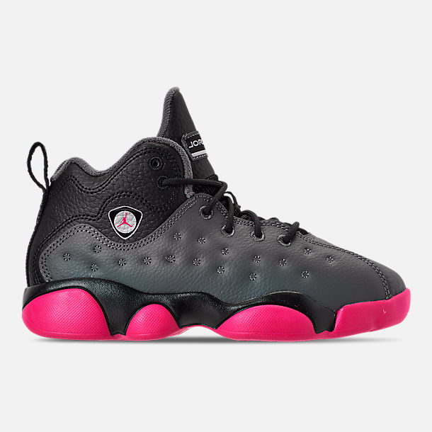 83e265662f1 Right view of Girls' Little Kids' Jordan Jumpman Team II Basketball Shoes  in Dark