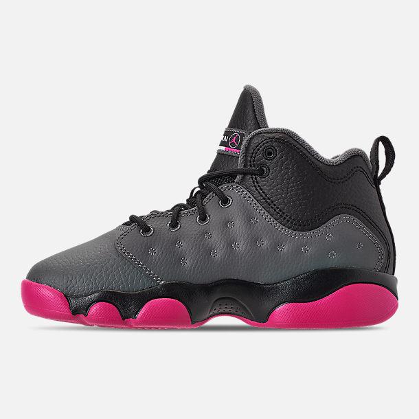 d838641f5c4 Left view of Girls' Little Kids' Jordan Jumpman Team II Basketball Shoes in  Dark