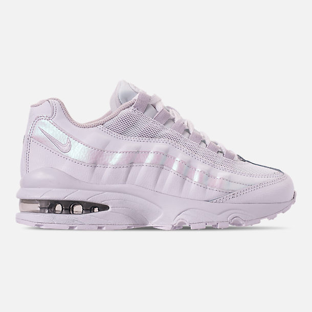 Right view of Girls' Big Kids' Nike Air Max 95 Casual Shoes in White/White/Vast Grey