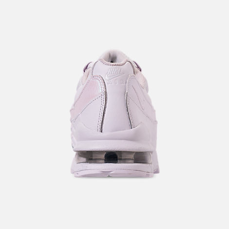 Back view of Girls' Big Kids' Nike Air Max 95 Casual Shoes in White/White/Vast Grey