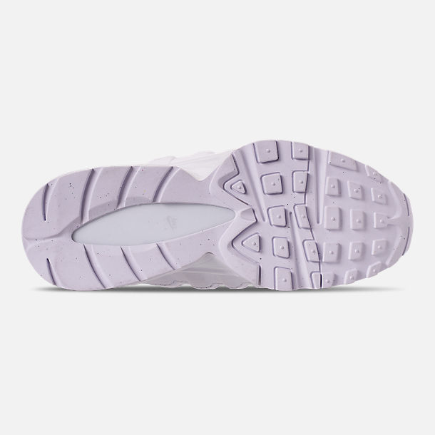 Bottom view of Girls' Big Kids' Nike Air Max 95 Casual Shoes in White/White/Vast Grey