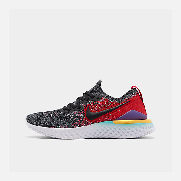 7a54200036147 Right view of Boys  Big Kids  Nike Epic React Flyknit 2 Running Shoes in