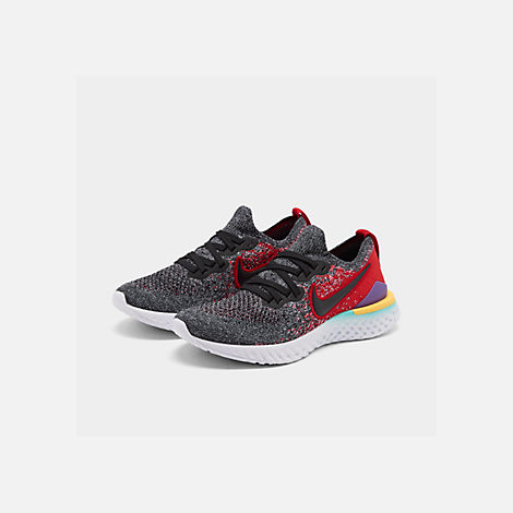 a1cad517e8456 Three Quarter view of Boys  Big Kids  Nike Epic React Flyknit 2 Running  Shoes