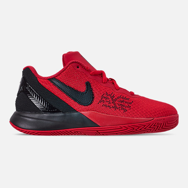Right view of Boys' Little Kids' Nike Kyrie Flytrap II Basketball Shoes in University Red/Black