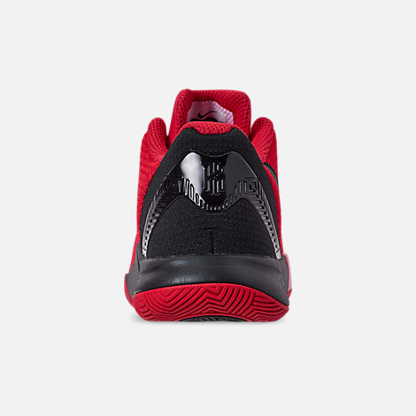 Back view of Boys' Little Kids' Nike Kyrie Flytrap II Basketball Shoes in University Red/Black