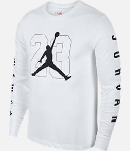Men's Jordan HBR Vertical Script Long-Sleeve T-Shirt