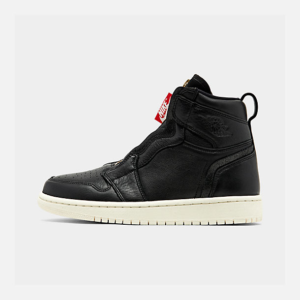 Right view of Women's Air Jordan 1 High Zip Casual Shoes in Black/Sail/University Red