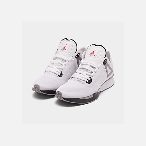 c0dff6c2d48af Three Quarter view of Men's Jordan 89 Racer Running Shoes in White/Black/ Cement