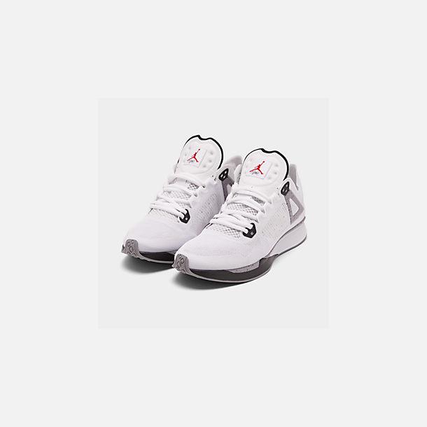 f76d0311d67 Three Quarter view of Men's Jordan 89 Racer Running Shoes in  White/Black/Cement