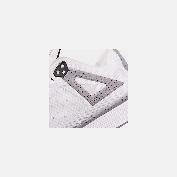 03818fd129002 Front view of Men's Jordan 89 Racer Running Shoes in White/Black/Cement Grey