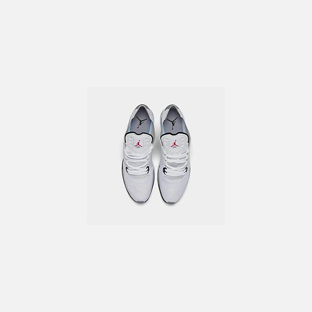99acd48045c35 Back view of Men's Jordan 89 Racer Running Shoes in White/Black/Cement Grey