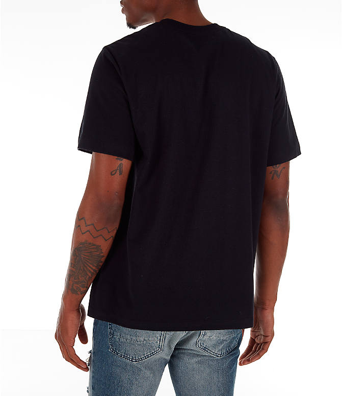 Back Left view of Men's Jordan Pattern T-Shirt in Black