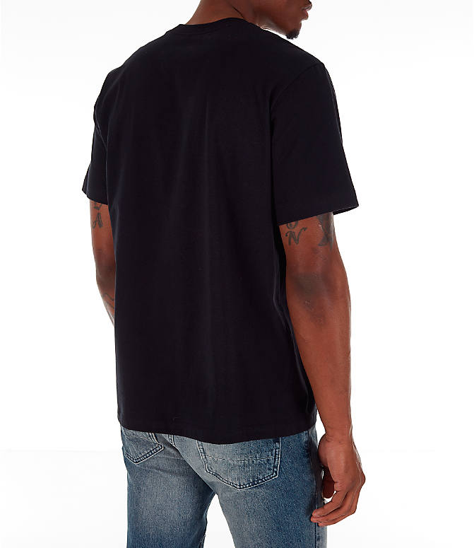 Back Right view of Men's Jordan Pattern T-Shirt in Black