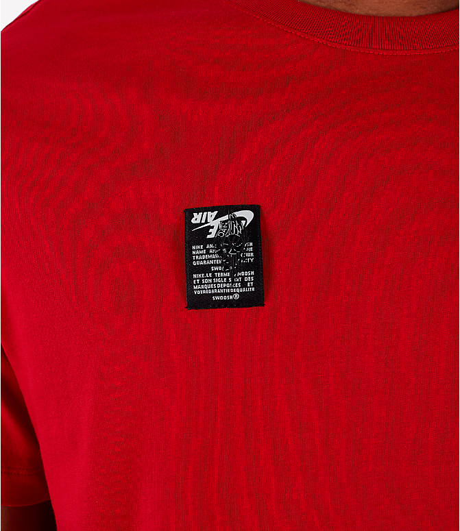 Detail 1 view of Men's Jordan Air Label T-Shirt in Red