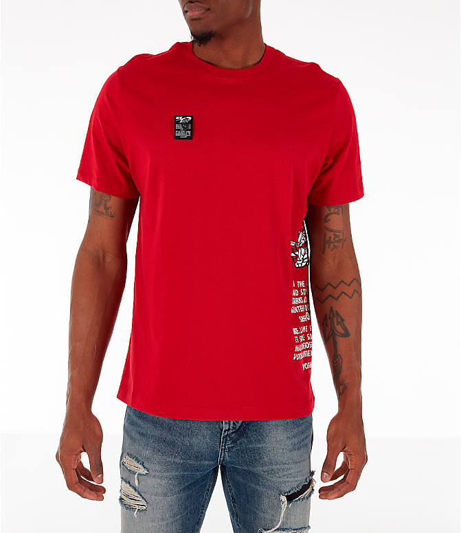 Front view of Men's Jordan Air Label T-Shirt in Red