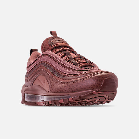 Three Quarter view of Men's Nike Air Max 97 SE Casual Shoes in Mahogany Mink/Smokey Mauve