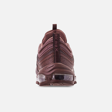Back view of Men's Nike Air Max 97 SE Casual Shoes in Mahogany Mink/Smokey Mauve