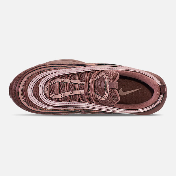 Top view of Men's Nike Air Max 97 SE Casual Shoes in Mahogany Mink/Smokey Mauve