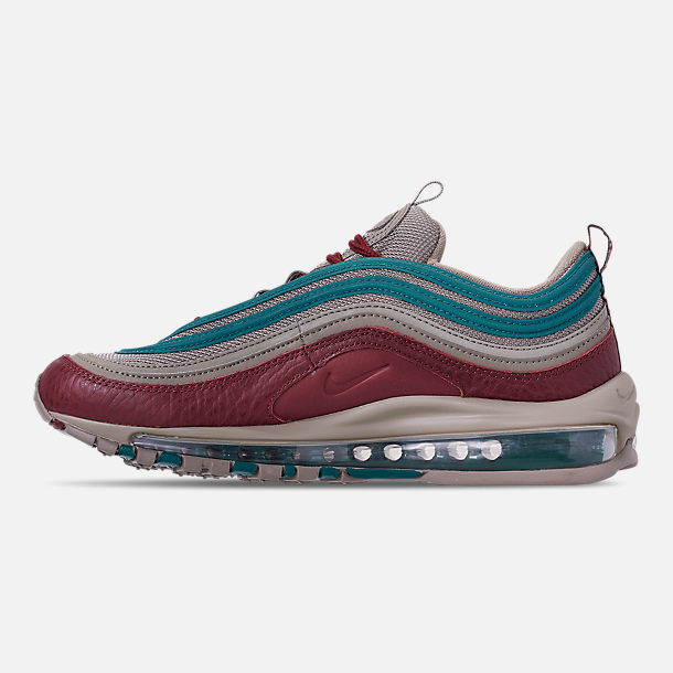 Left view of Men's Nike Air Max 97 SE Casual Shoes in Lite Taupe/Team Red