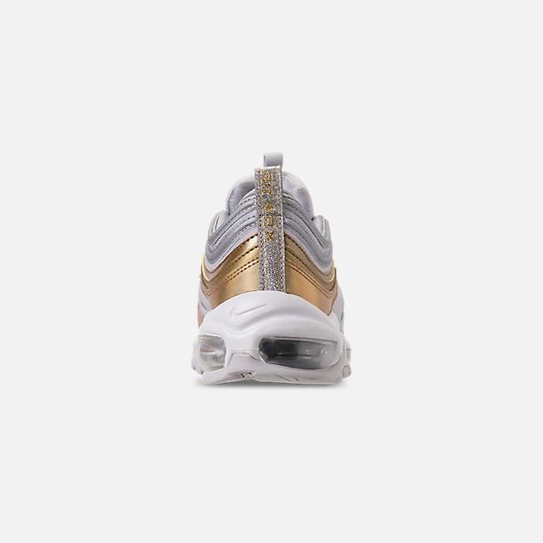 Front view of Women's Nike Air Max 97 SE Casual Shoes in Vast Grey/Metallic Silver
