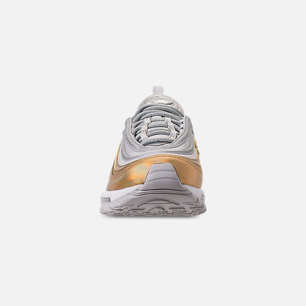 Back view of Women's Nike Air Max 97 SE Casual Shoes in Vast Grey/Metallic Silver