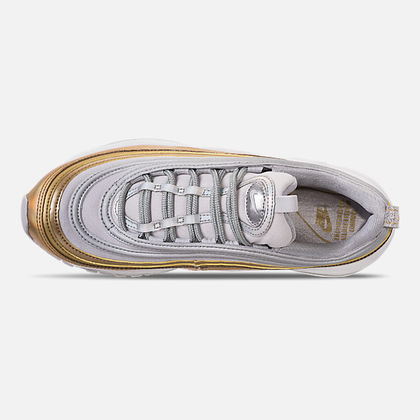 Top view of Women's Nike Air Max 97 SE Casual Shoes in Vast Grey/Metallic Silver