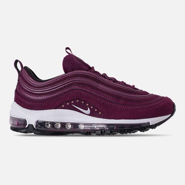 Right view of Women's Nike Air Max 97 SE Casual Shoes in Bordeaux/White/Black