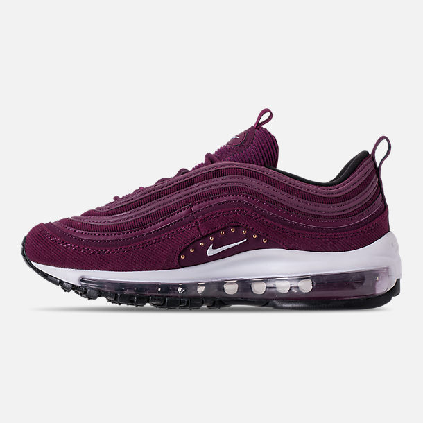 Left view of Women's Nike Air Max 97 SE Casual Shoes in Bordeaux/White/Black