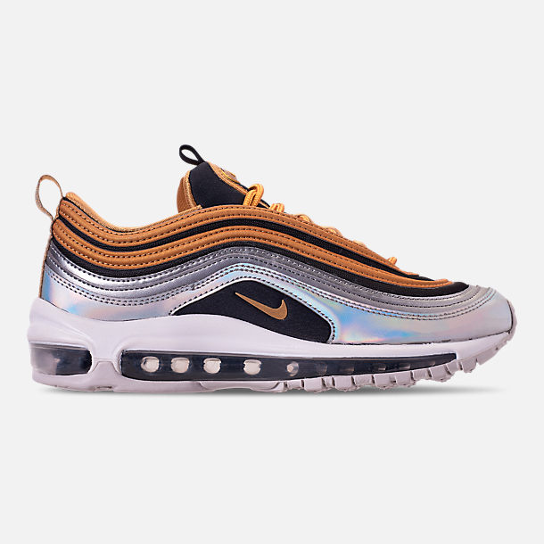c41d34f7cfb84 Right view of Women s Nike Air Max 97 SE Casual Shoes in Metallic  Gold Metallic