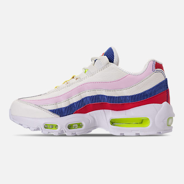 Left view of Women's Nike Air Max 95 Special Edition Casual Shoes in Sail/Arctic Pink/Racer Blue