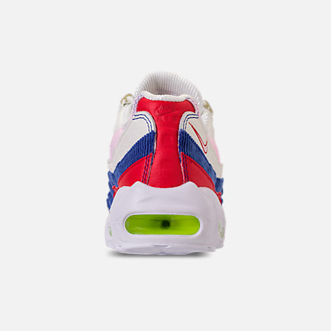 Back view of Women's Nike Air Max 95 Special Edition Casual Shoes in Sail/Arctic Pink/Racer Blue
