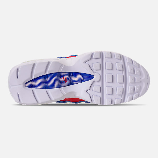 Bottom view of Women's Nike Air Max 95 Special Edition Casual Shoes in Sail/Arctic Pink/Racer Blue
