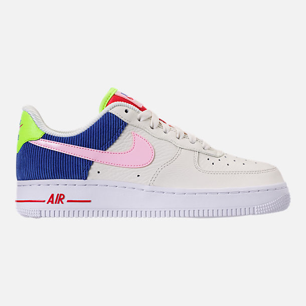Right view of Women's Nike Air Force 1 Low Casual Shoes in Sail/Arctic Pink/Racer Blue