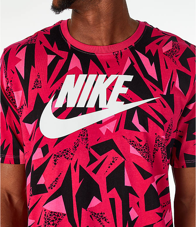 Detail 1 view of Men's Nike Sportswear 90's All-Over Print T-Shirt in Rush Pink