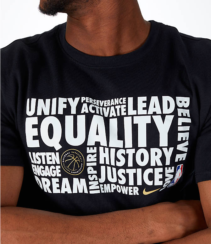 Detail 1 view of Men's Nike NBA Black History Month T-Shirt in Black