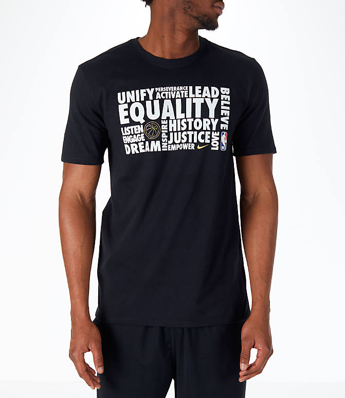 Front view of Men's Nike NBA Black History Month T-Shirt in Black