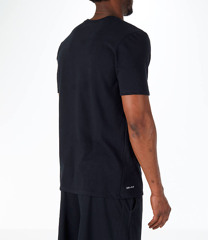 Back Right view of Men's Nike NBA Black History Month T-Shirt in Black