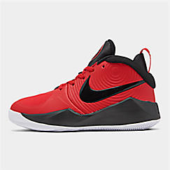 Boys' Big Kids' Nike Team Hustle D 9 Basketball Shoes