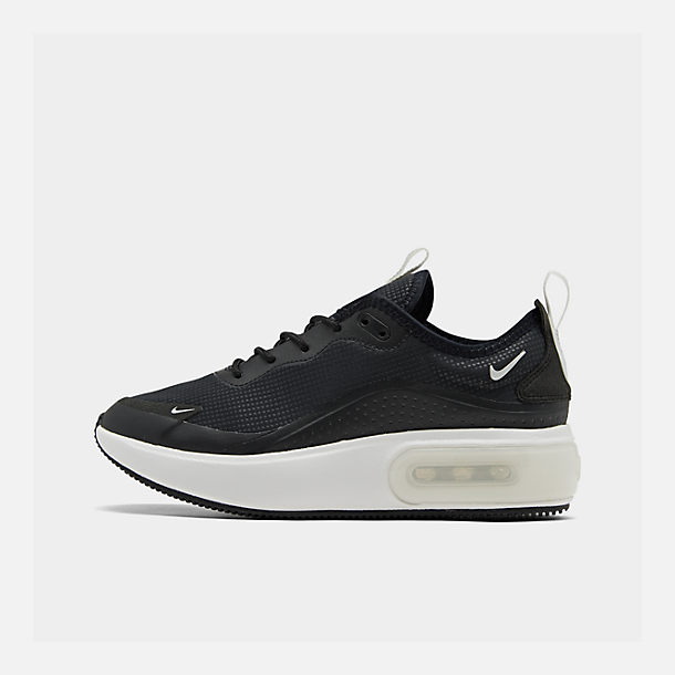 Right view of Women's Nike Air Max DIA Casual Shoes in Black/Summit White/Summit White