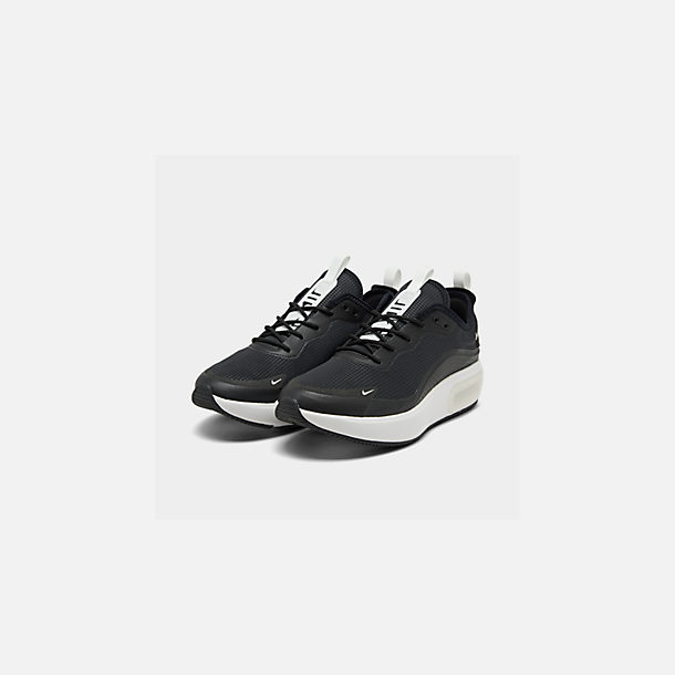 Three Quarter view of Women's Nike Air Max DIA Casual Shoes in Black/Summit White/Summit White