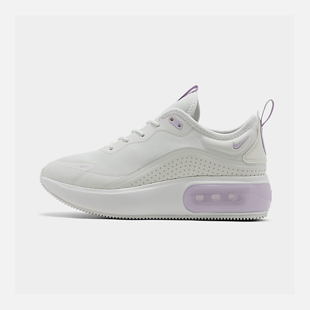Right view of Women's Nike Air Max DIA Casual Shoes in Summit White/Oxygen Purple
