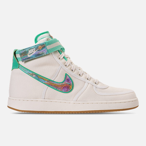 Right view of Men's Nike Vandal High Supreme TD Casual Shoes in Sail/Multicolor/Gum Light Brown