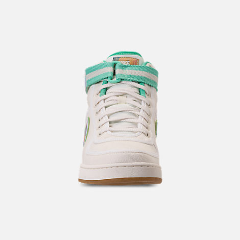 Front view of Men's Nike Vandal High Supreme TD Casual Shoes in Sail/Multicolor/Gum Light Brown